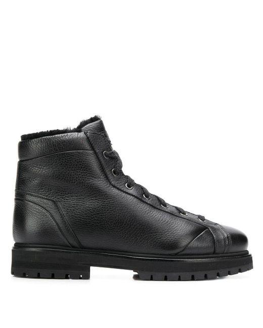 Ботинки На Шнуровке Santoni для него, цвет: Black