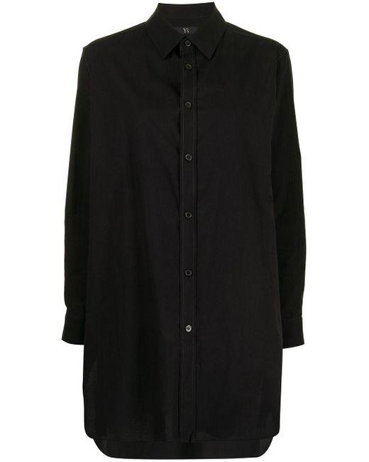 Y's Yohji Yamamoto ポインテッドカラー シャツ Black