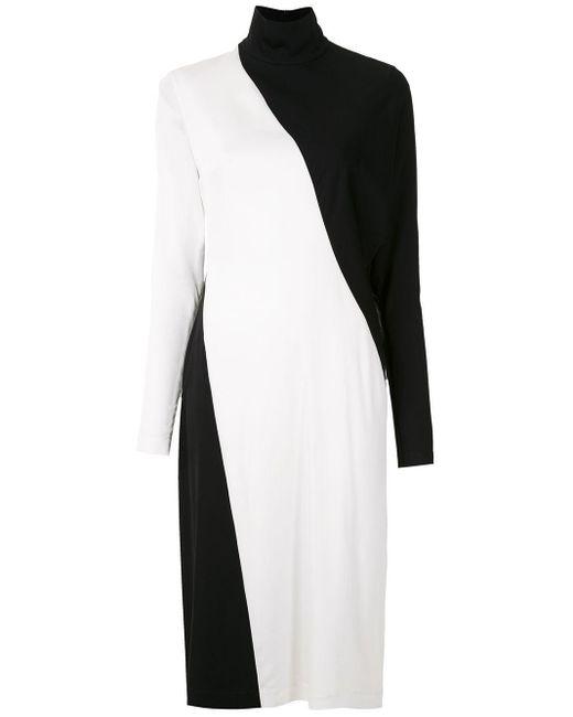 Двухцветное Платье Миди Gloria Coelho, цвет: Black