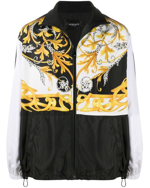 Куртка С Принтом Baroque Versace для него, цвет: White