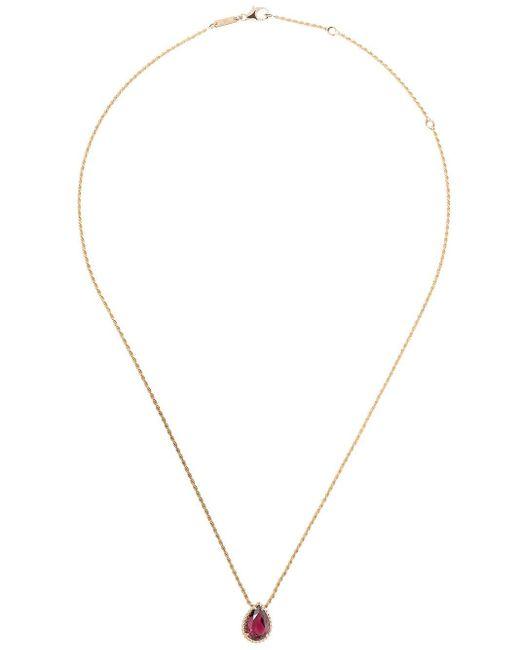Boucheron セルパンボエム ロードライト ネックレス 18kローズゴールド Metallic
