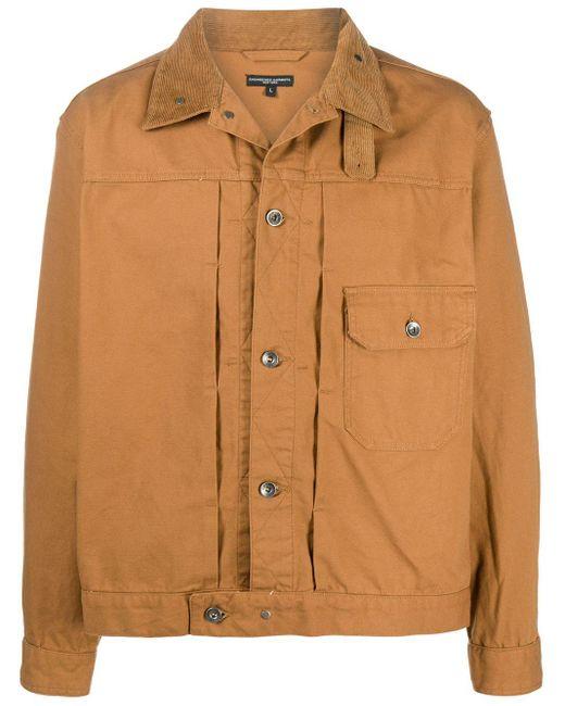 Куртка-рубашка С Длинными Рукавами И Вставками Engineered Garments для него, цвет: Brown