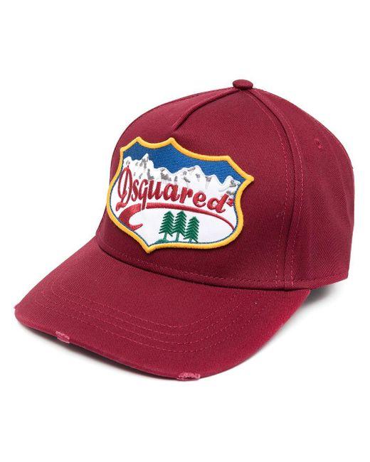 Бейсболка С Нашивкой-логотипом DSquared² для него, цвет: Red