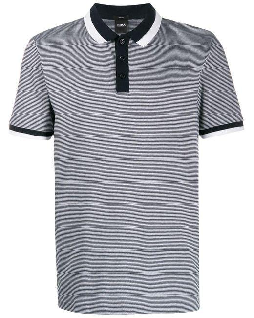 メンズ BOSS by Hugo Boss ストライプ ポロシャツ Blue