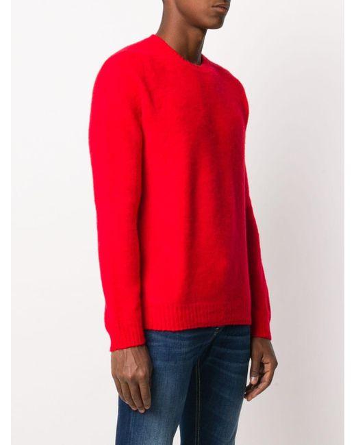 メンズ Eleventy ロングスリーブ セーター Red