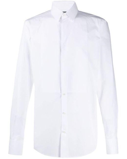 メンズ Dolce & Gabbana タキシードシャツ White