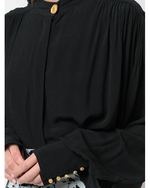 Крепдешиновый Топ С Драпировкой Proenza Schouler, цвет: Black