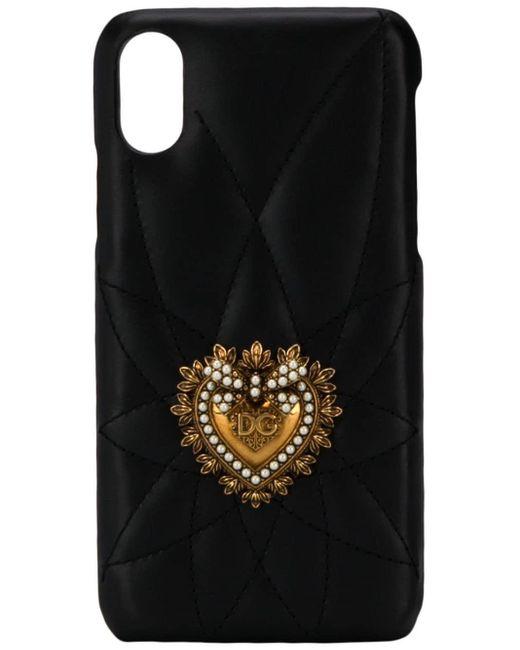 Dolce & Gabbana ハートプレート Iphone X/xs ケース Black