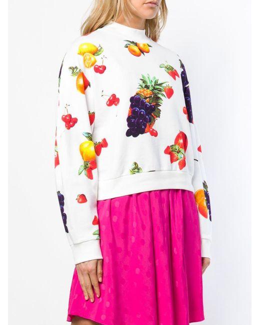 MSGM プリント スウェットシャツ Pink