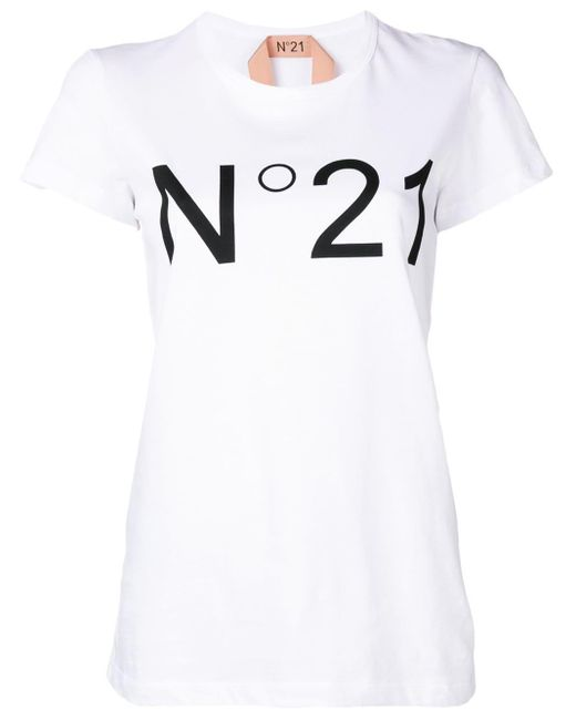 N°21 White Printed Logo T-shirt