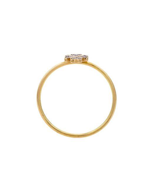 Loquet London - Metallic Four Leaf Clover Ring - Lyst