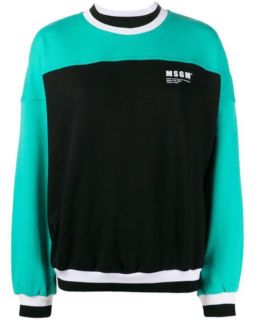MSGM カラーブロック スウェットシャツ Black