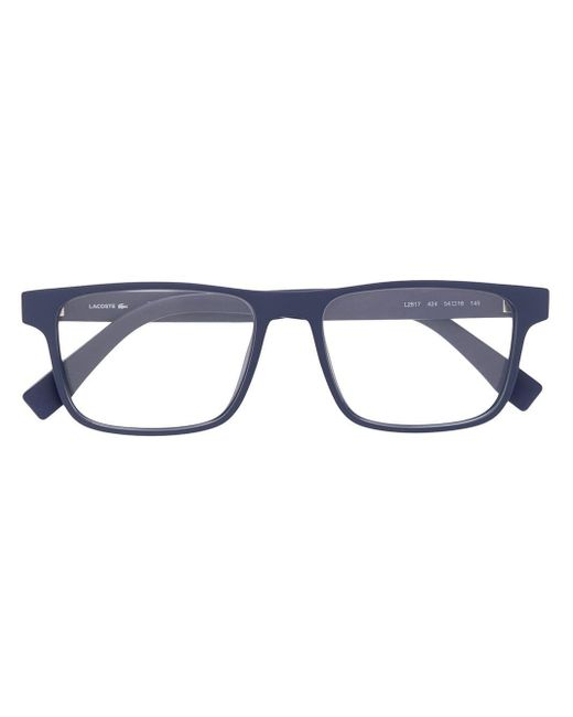 メンズ Lacoste スクエア 眼鏡フレーム Blue