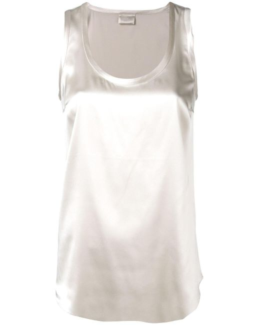 Базовый Топ Без Рукавов Brunello Cucinelli, цвет: White
