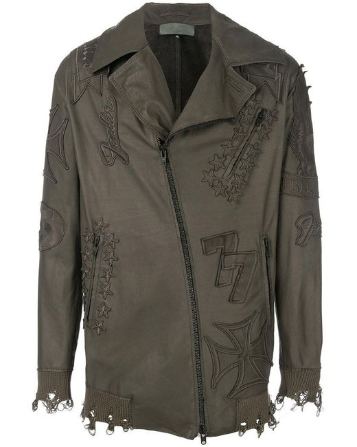 Di Liborio - Green Oversized Zip Jacket for Men - Lyst