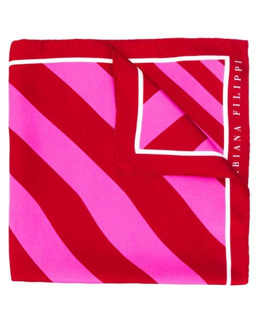 Fabiana Filippi ストライプ スカーフ Red