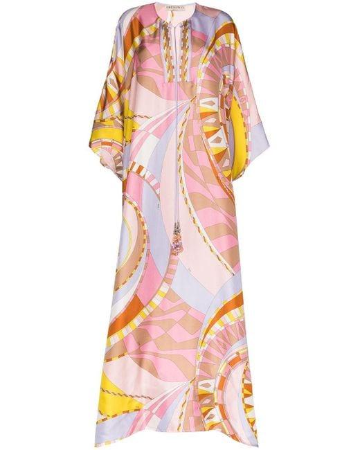 Emilio Pucci Wally プリント カフタンドレス Multicolor