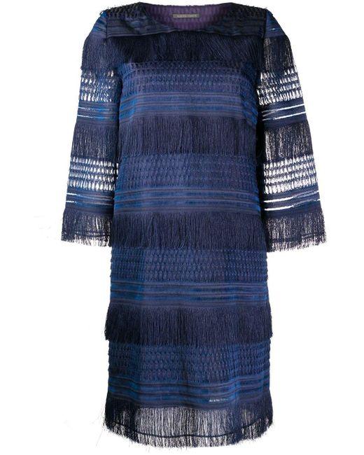 Alberta Ferretti レイヤード ドレス Blue