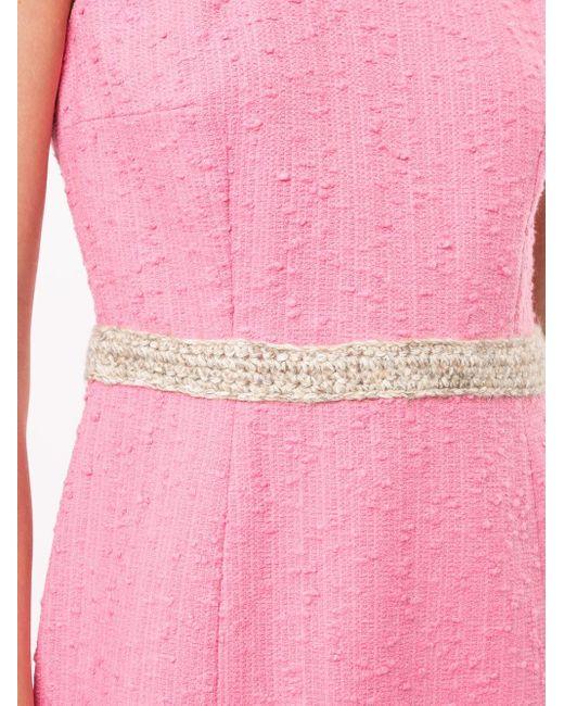 Paule Ka ノースリーブ ドレス Pink