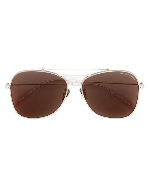 Alexander McQueen Piercing Shield サングラス Metallic