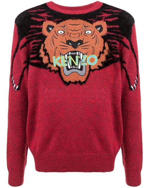 メンズ KENZO Tiger セーター Red