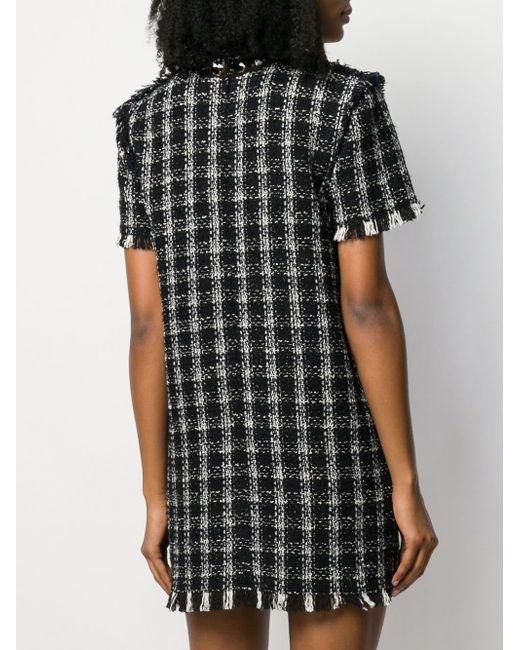 MSGM Black Gewebtes Kleid