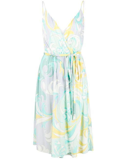 Emilio Pucci Green Tropicana Print Dress