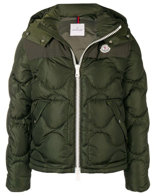 f42334e65 Lyst - Moncler Zipped Padded Jacket in Green for Men