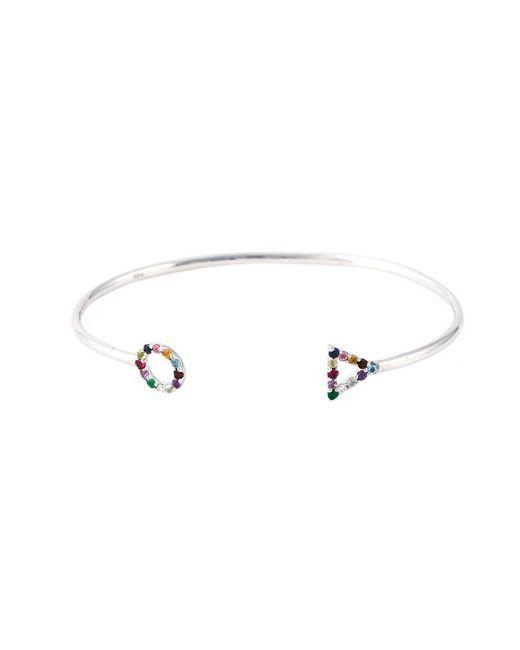 Eshvi - Metallic 18kt White Gold Gemstone Bracelet - Lyst
