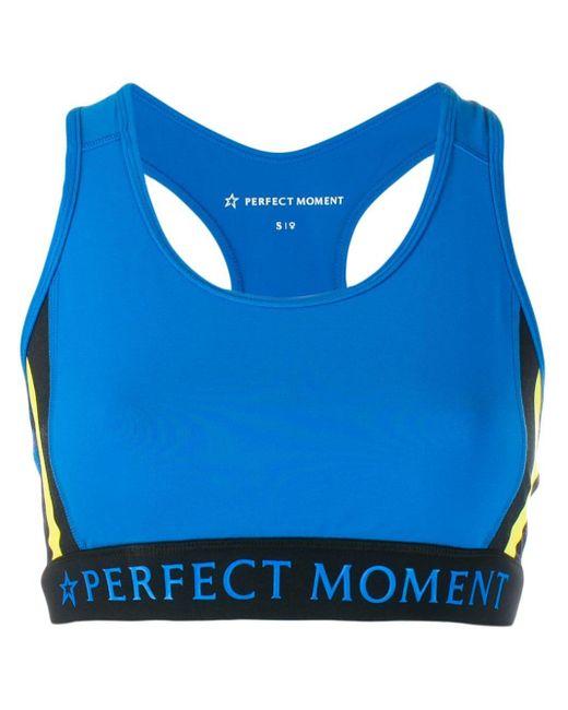 Perfect Moment レーサーバック スポーツブラ Blue