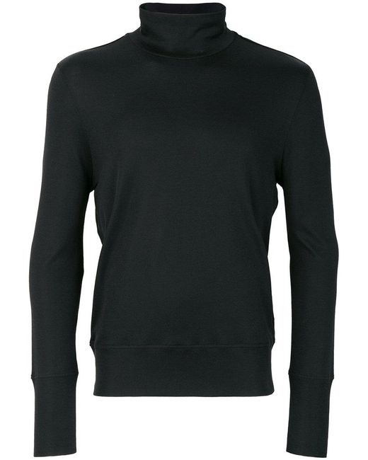 Bottega veneta roll neck t shirt in black for men lyst for Bottega veneta t shirt