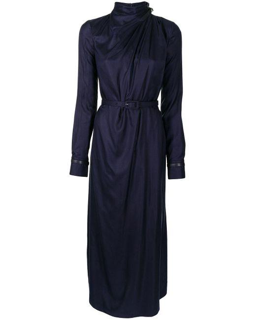 Gabriela Hearst ベルテッド ドレス Blue