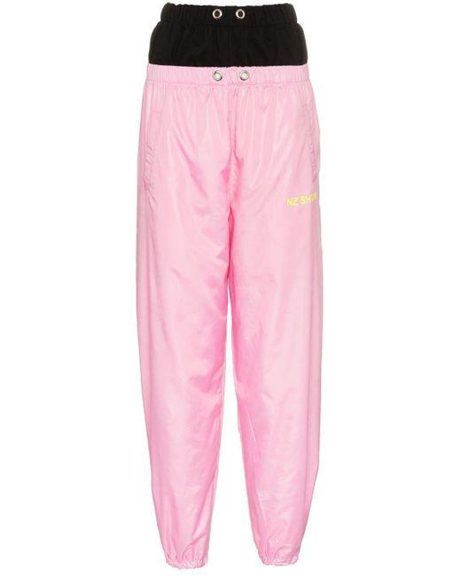 Natasha Zinko レイヤードスタイル パンツ Pink