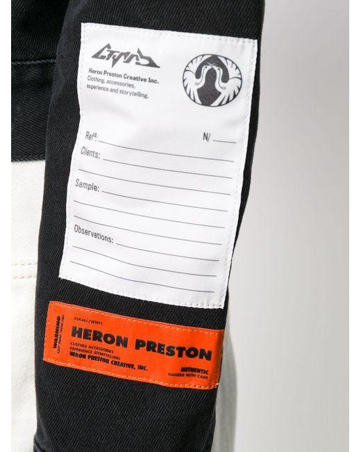 Heron Preston ロゴパッチ ボタンジャケット Black