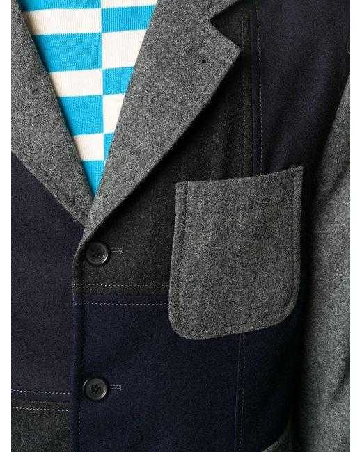 メンズ Comme des Garçons コントラストパネル ジャケット Gray
