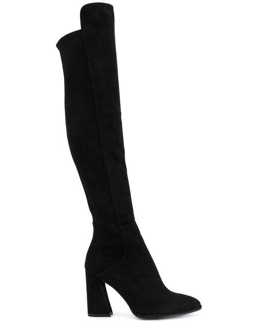 Stuart Weitzman | Black All Hyped Boots | Lyst