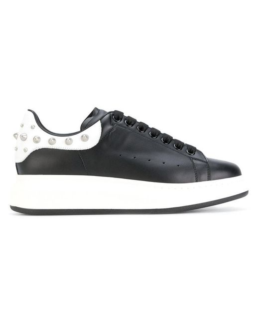 Alexander McQueen | Black Studded Extended Sole Sneakers for Men | Lyst