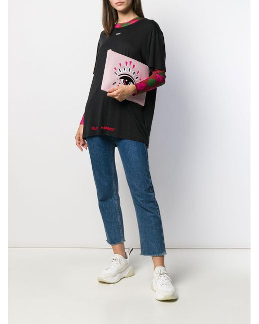 KENZO エンボスロゴ クラッチバッグ Pink