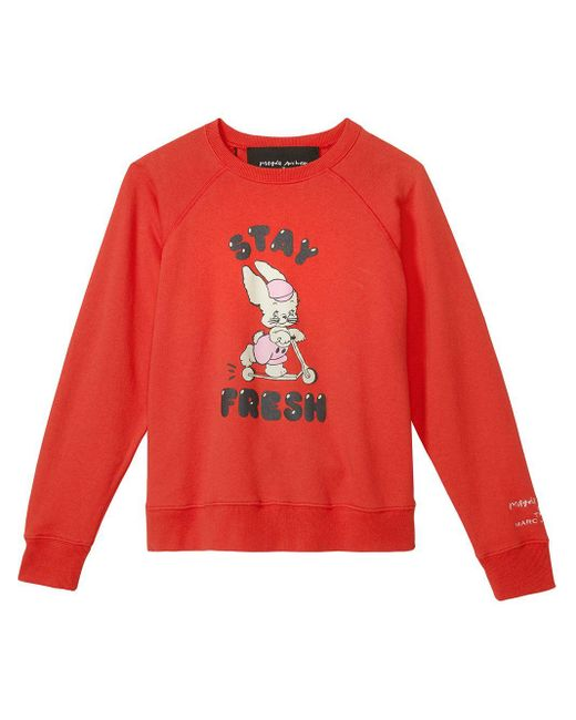 Marc Jacobs X Magda Archer 'the Magda' スウェットシャツ Red