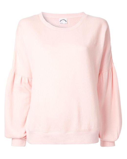 The Upside ドロップショルダー スウェットシャツ Pink