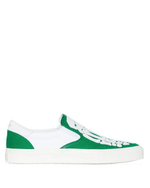Слипоны Skel Toe Amiri для него, цвет: Green