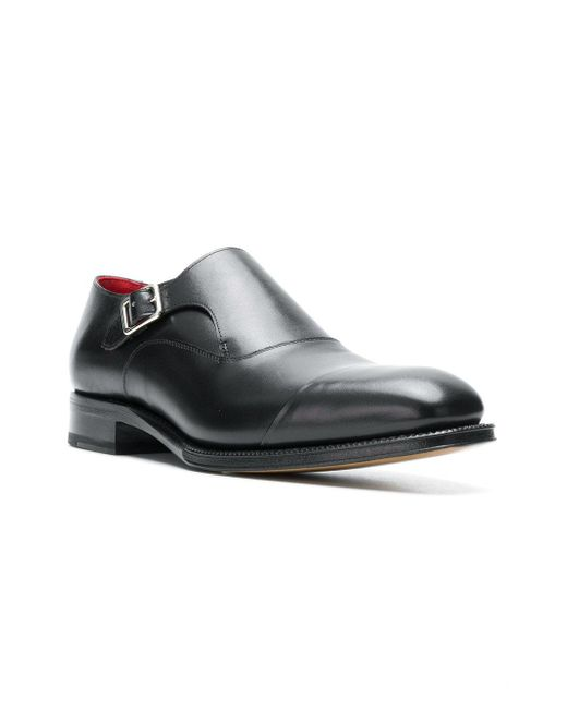 808d7a45ca700 ... Alexander McQueen - Black Classic Monk Shoes for Men - Lyst ...