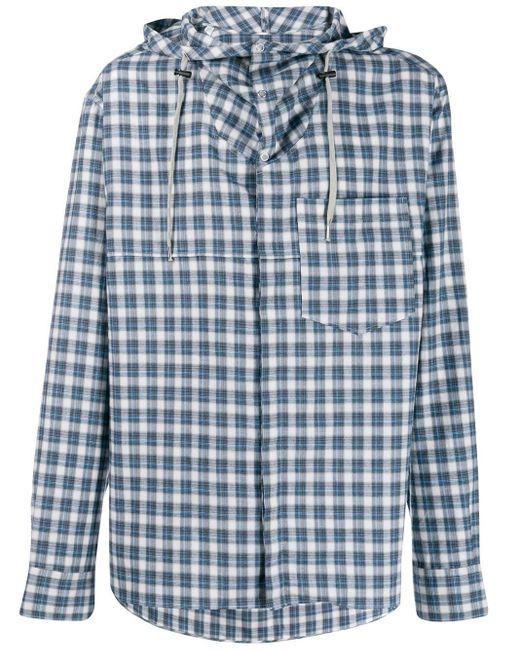 メンズ Lanvin ハイブリッド フーデッドシャツ Blue