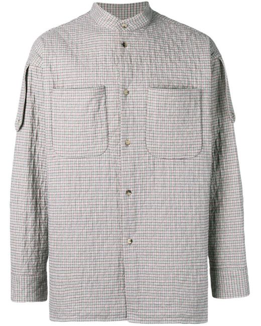メンズ Vivienne Westwood チェック シャツジャケット Gray