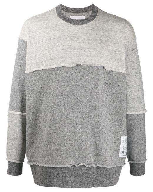 Julien David バイカラー スウェットシャツ Gray