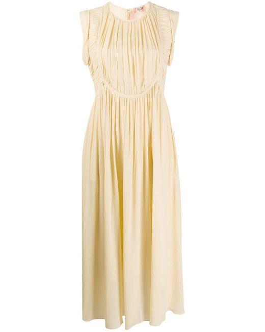 N°21 シャーリング ドレス Natural