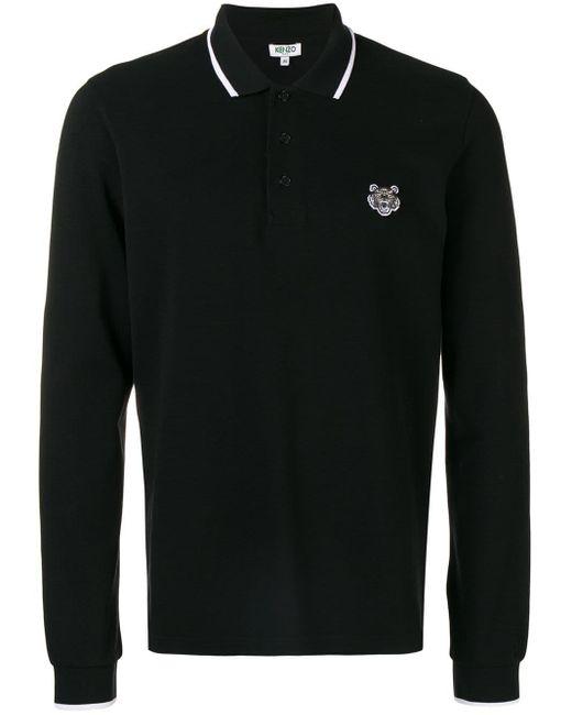 メンズ KENZO Tiger ポロシャツ Black