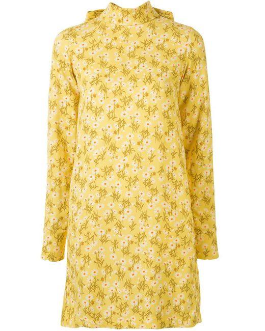 N°21 リボンディテール フローラル ドレス Yellow