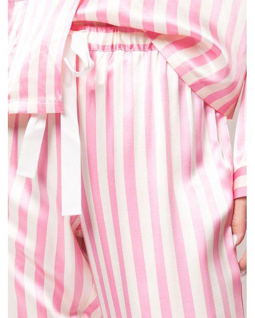 Morgan Lane Chantal ストライプ パジャマパンツ Pink
