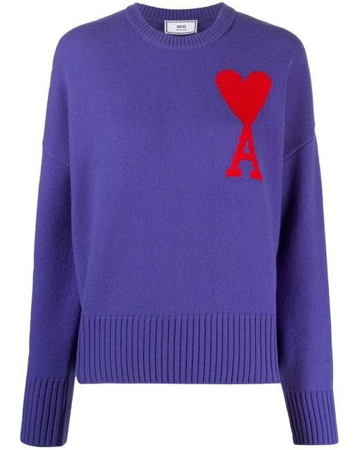 AMI De Coeur オーバーサイズ プルオーバー Purple